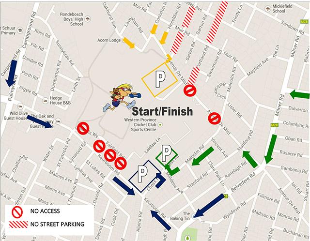 WPCC Parking map